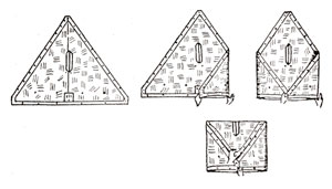 Recommended way to fold a triangular shelter quarter